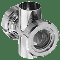Диоптр гаечный крестовой DN025 (029,0) DIN 11851 AISI 316L / 1.4404