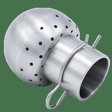Головка моющая нержавеющая DN028/012,2 DIN 11851 120 град. под клипсу AISI 304 (L) / 1.4301 (7)