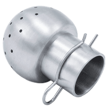 Головка моющая нержавеющая DN065/040,5 DIN 11851 180 град. под клипсу AISI 304 (L) / 1.4301 (7)