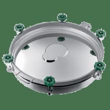 Люк нержавеющий круглый DN500 AISI 304 (L) / 1.4301 EPDM